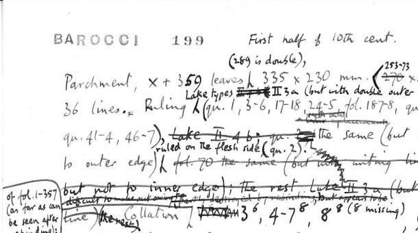 Description of Barocci Manuscript 199